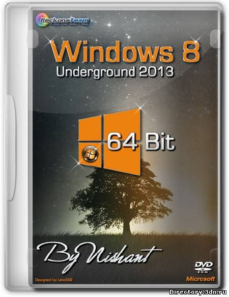 Windows 8 Underground 2013 x64 Build 9200 By Nishant (ENG/RUS/2013)