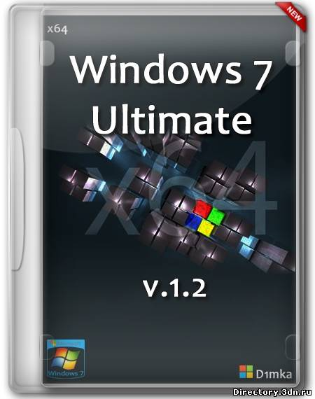 Windows 7 x64 Ultimate v1.2 by D1mka (RUS/2013)