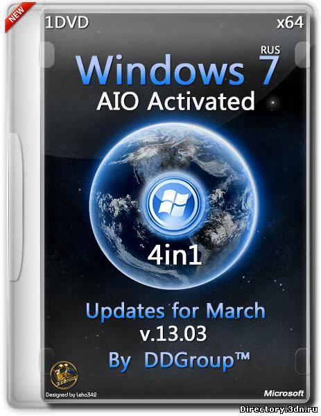Windows 7 SP1 x64 4in1 AIO Activated Updates for March v.13.03 by DDGroup™ (RUS/2014)